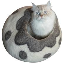 felted wool original cat caves